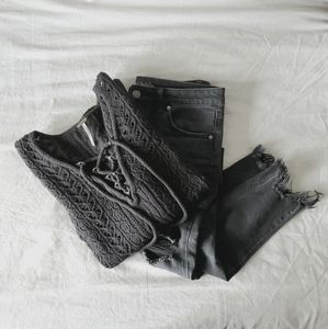 Black Knit Free People Sweater